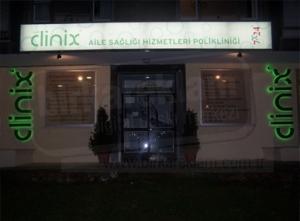 Clinix Alüminyum Işıklı Tabela