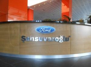 Ford Paslanmaz Kutu Harf Tabela