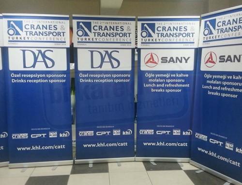 Roll up Banner | Cranes Transport