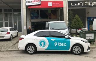 TTEC firmasının tüm araçları Birka Reklam tarafından giydirilmiştir.