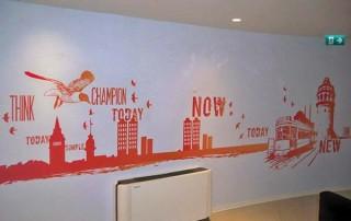 duvar üzerine resim baskı