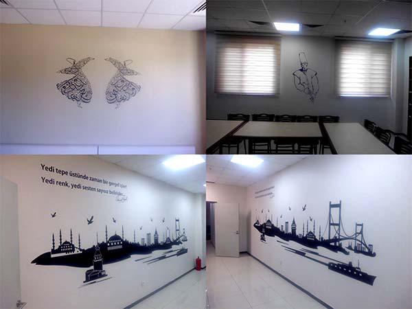 duvar üzerine desenli resimler